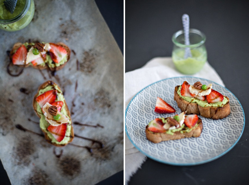 Erbsencrostini und das neue Buch 'because you are hungry' !