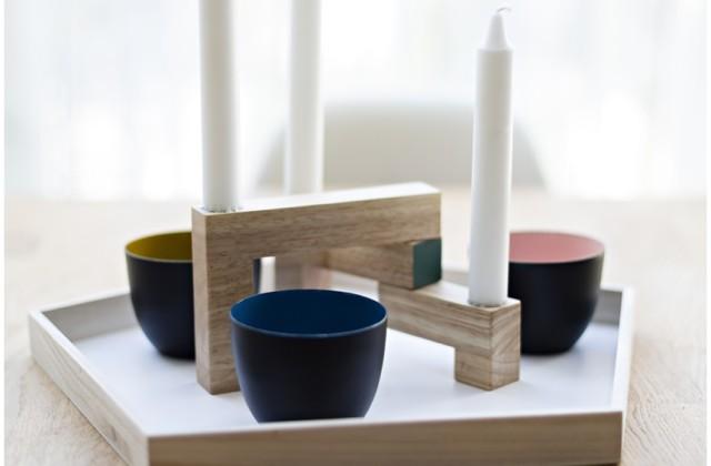 Ikea Stockholm Kollektion , Teppich, Schwarz Weiß gestreift, skandinavisches Design, Wiener Wohnsinn, Essplatz, Tisch