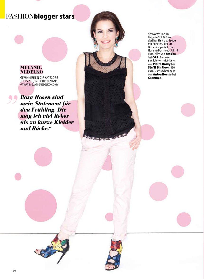 Madonna Blogger Award Wiener Wohnsinn gewinnerin fashion shoot mit C&A in press