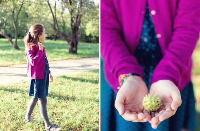 collecting chestnuts with kids - Wiener Wohnsinn blog