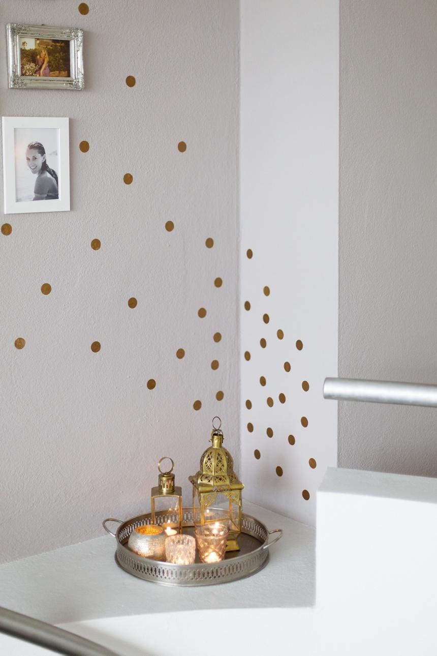 Kupferkonfetti wandsticker von ferm livingwiener wohnsinn