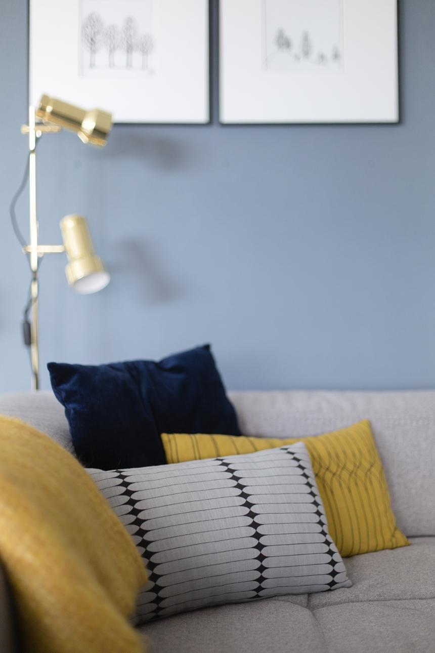 Wandfarbe wohnzimmer blau – dumss.com