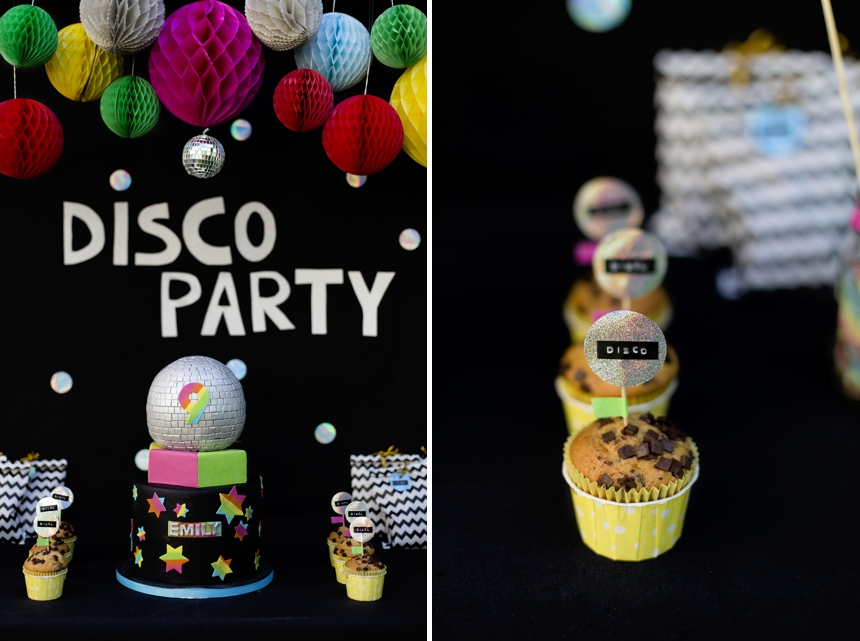 Disco Geburtstagsparty , Disco Party Muffins