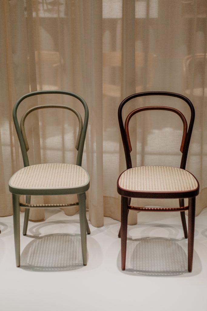 Wohntrend 2020 - Das Wiener Geflecht , Two Tone Sessel von Studio Besau Marguerre © Wiener Wohnsinn