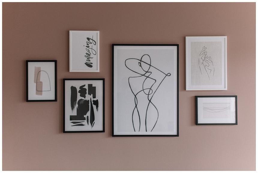 Wohnzimmer Wandgestaltung mit Desenio