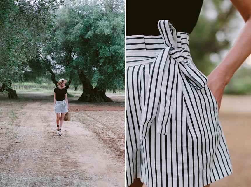striped High - Waist Shorts - Fashion Inspo