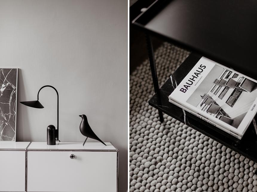 ARUM ferm living , Hay Peas Carpet , Vitra Eames House Bird © Wiener Wohnsinn