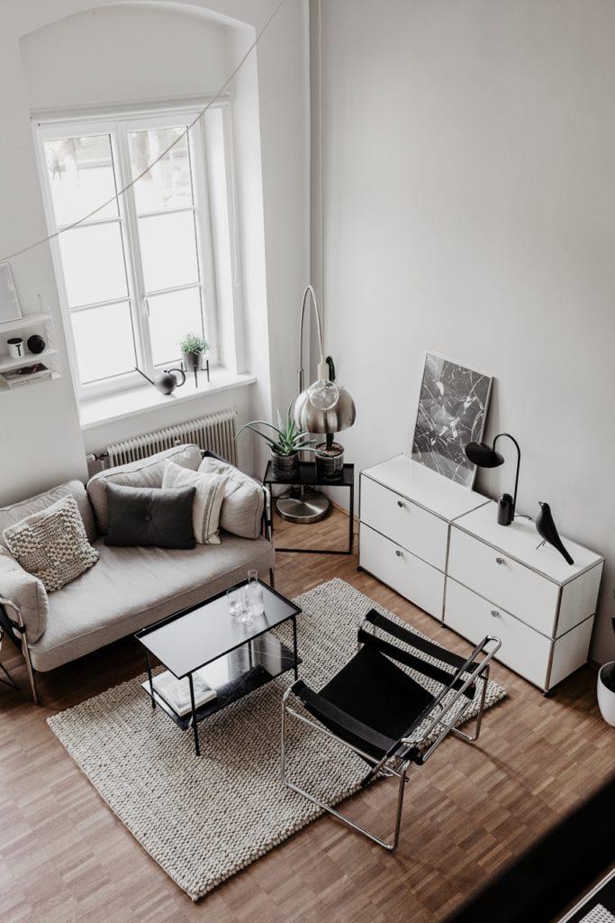 Monochrome Interior Style, Loft © Wiener Wohnsinn Interior Blog
