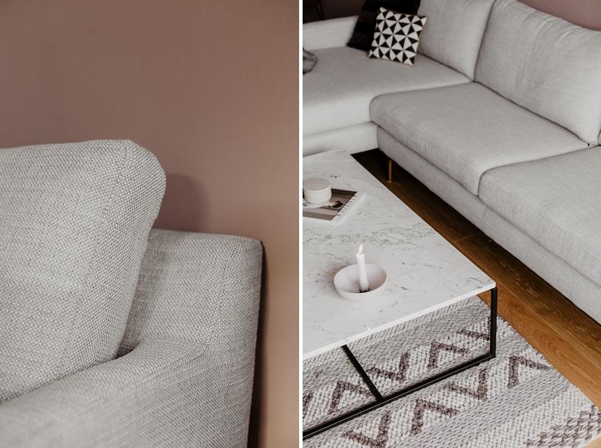 ein neues Sofa von Sofacompany - Modell Astha in Hellgrau