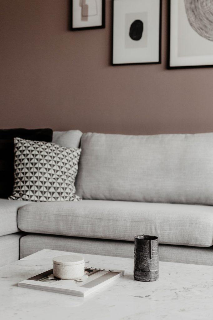 hellgraues Sofa , Wohnzimmer Inspiration