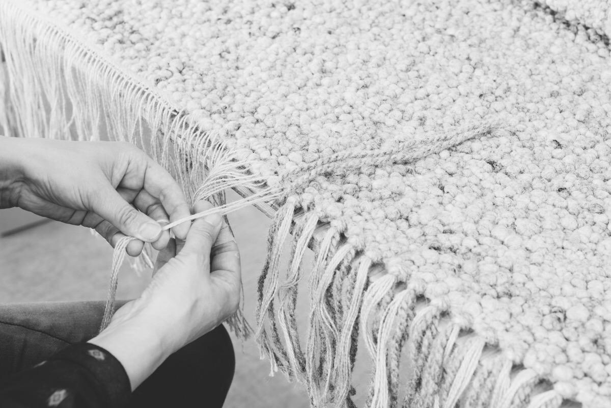Schafwollteppich , handgefertigt nach Maß in Tirol