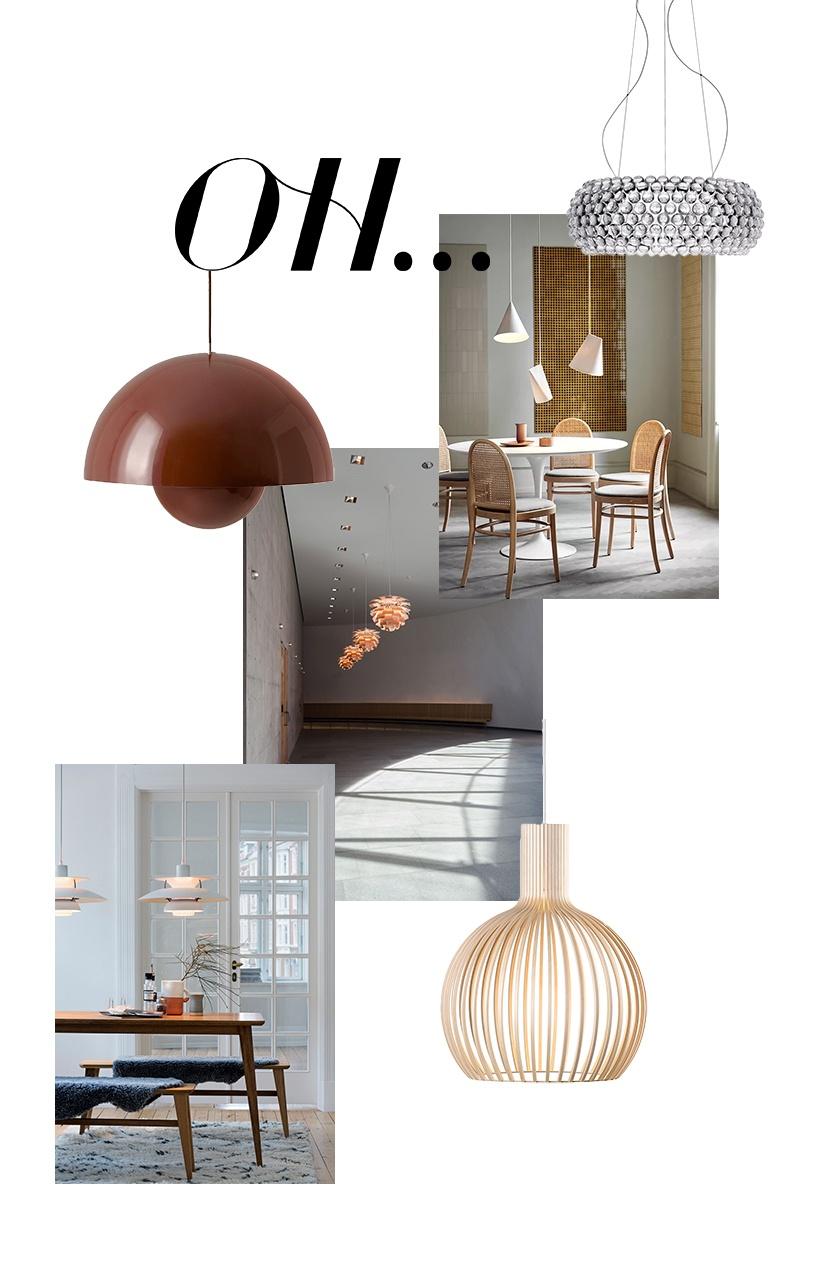 Designer Pendellampen & Hängeleuchten für den Essbereich © Wiener Wohnsinn