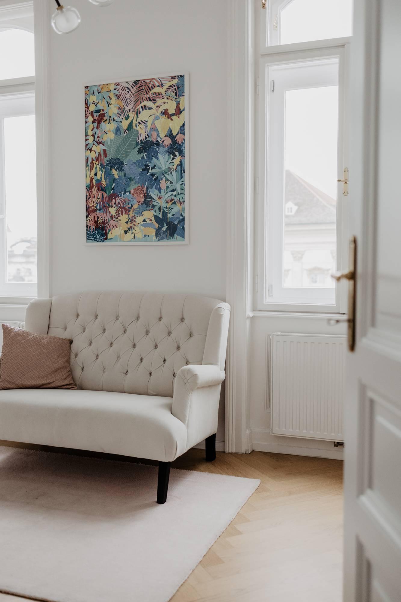Wohntraum im Servitenviertel - TV Zimmer - Homestory Wiener Wohnsinn