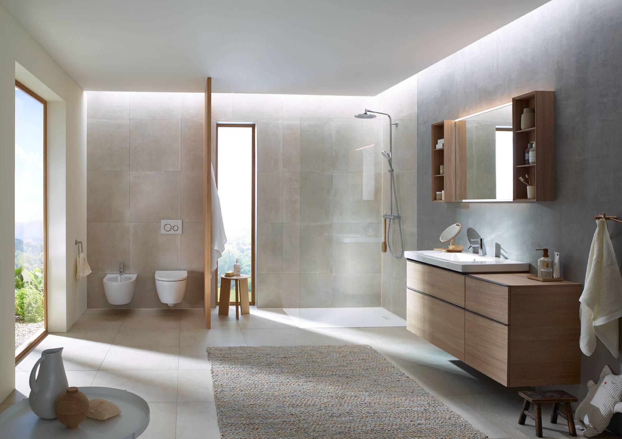 Architektur im Badezimmer   Betätigungsplatten von Geberit